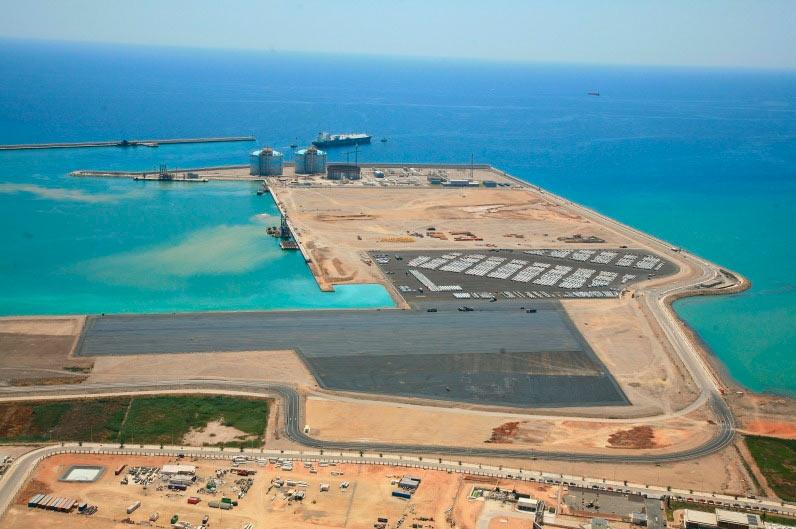 Muelles norte y sur puerto de sagunto