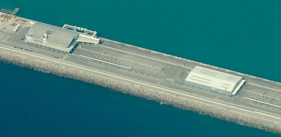 Extension muelle adosado puerto de Barcelona