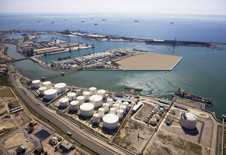 Proyecto de Ampliación del Muelle de la Química, Tarragona, España.