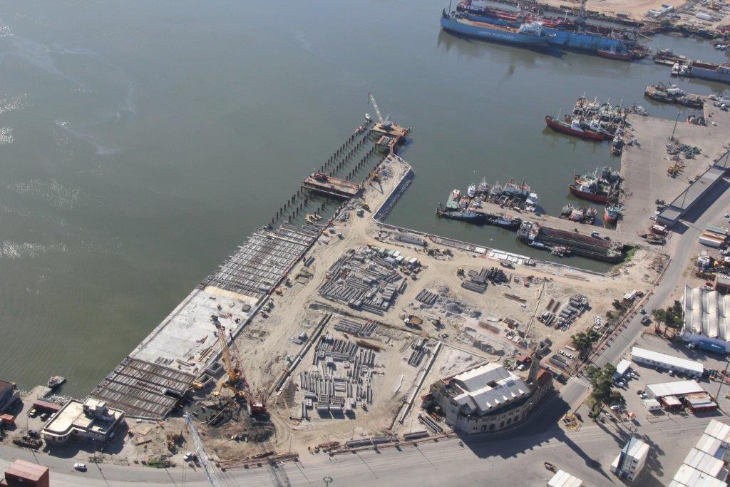 Proyecto Ejecutivo y Supervisión de obra del Muelle C del puerto de Montevideo, Uruguay.